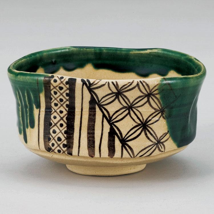 茶道具 抹茶茶碗(まっちゃちゃわん) 織部沓型茶碗 佐々木 晨二