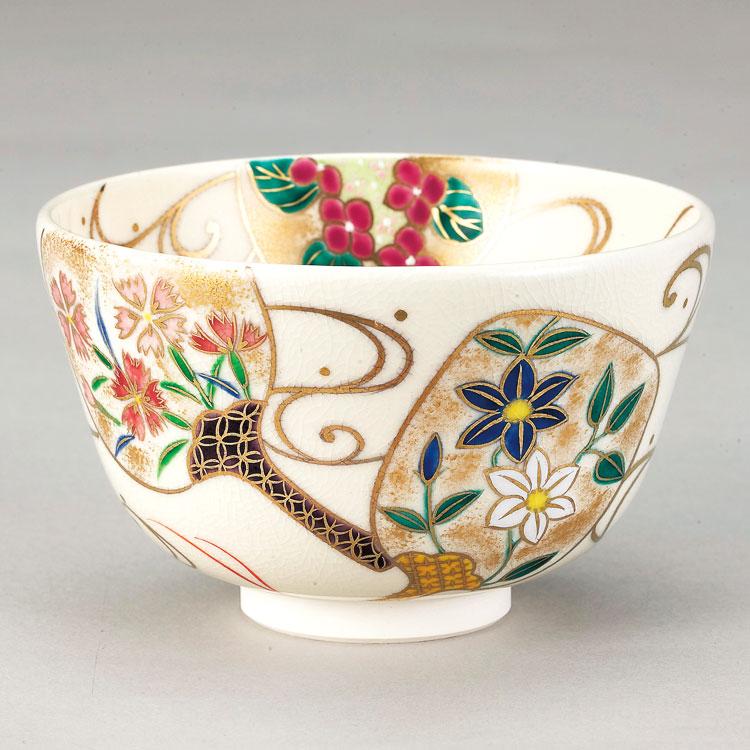 茶道具 抹茶茶碗(まっちゃちゃわん) 仁清 団扇絵茶碗 小手鞠窯 ギフト 通販 千紀園