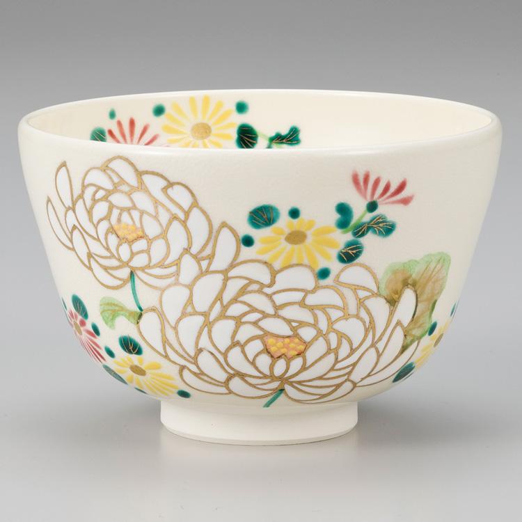 茶道具 抹茶茶碗(まっちゃちゃわん) 仁清 大菊絵茶碗 小手鞠窯