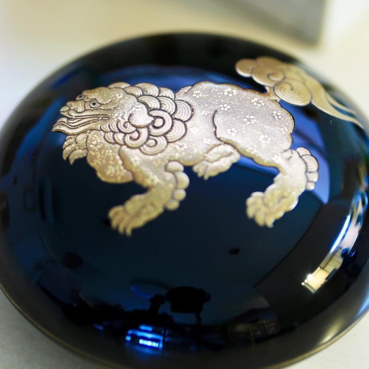 茶道具 香合獅子図蒔絵香合Ken MAKIE Studio「彩輝光」