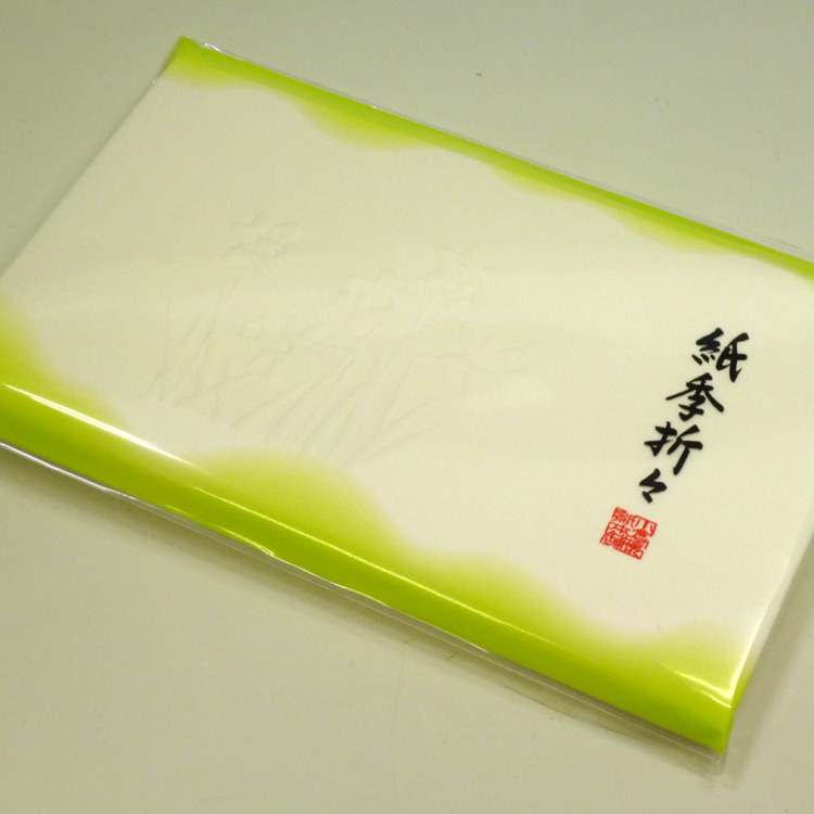 茶道具 茶道道具 お茶道具 通販  茶道具 懐紙(浮彫り)紙季折々 (1帖入30枚)※写真は一例です。様々な柄がございます。柄は当店におまかせください。