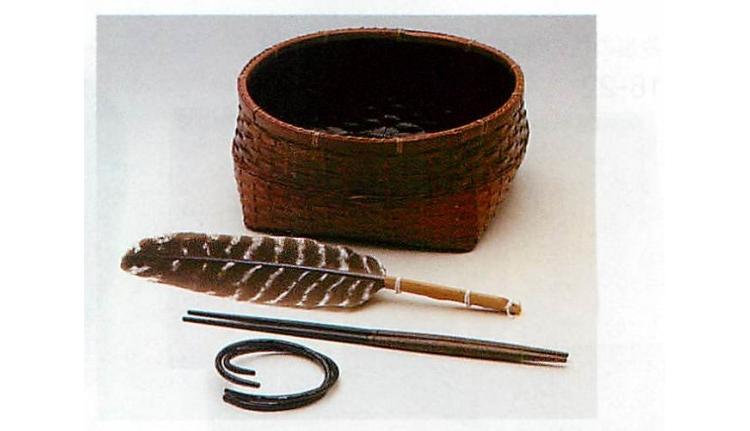 茶道具 炭斗セット(炉)