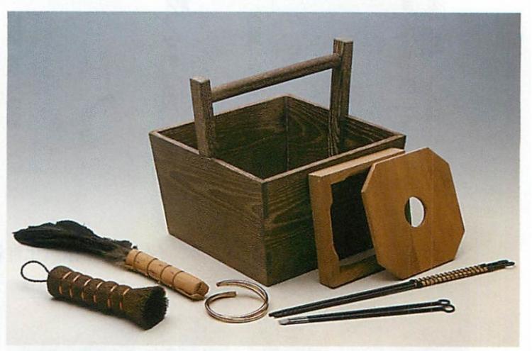 茶道具 箱炭斗セット