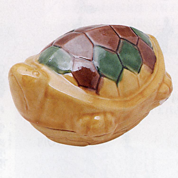 茶道具 交趾釉 亀 香合 横石嘉助 香合(茶道具 通販 )
