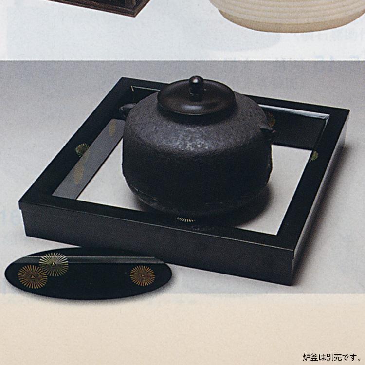 茶道具 真塗 紋唐松 炉縁 炉縁(茶道具 通販 )