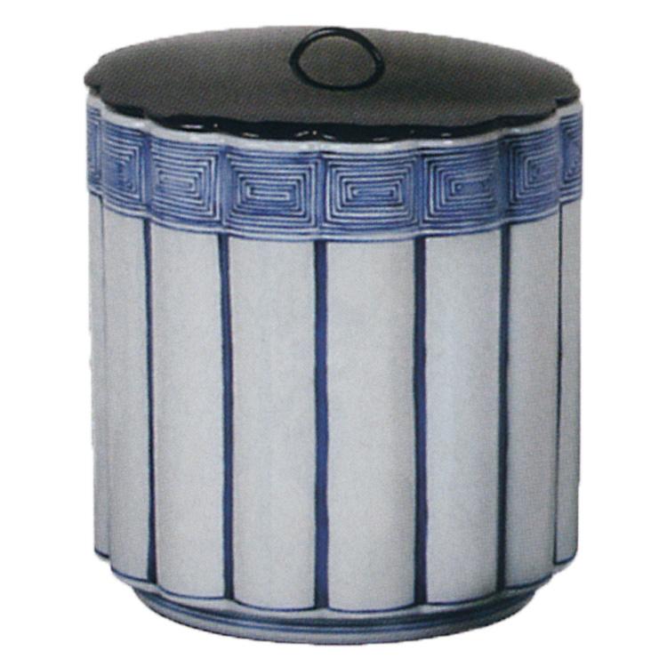 茶道具 染付 桶側 一重口 水指 横山瑞祥 (茶道具 通販 )