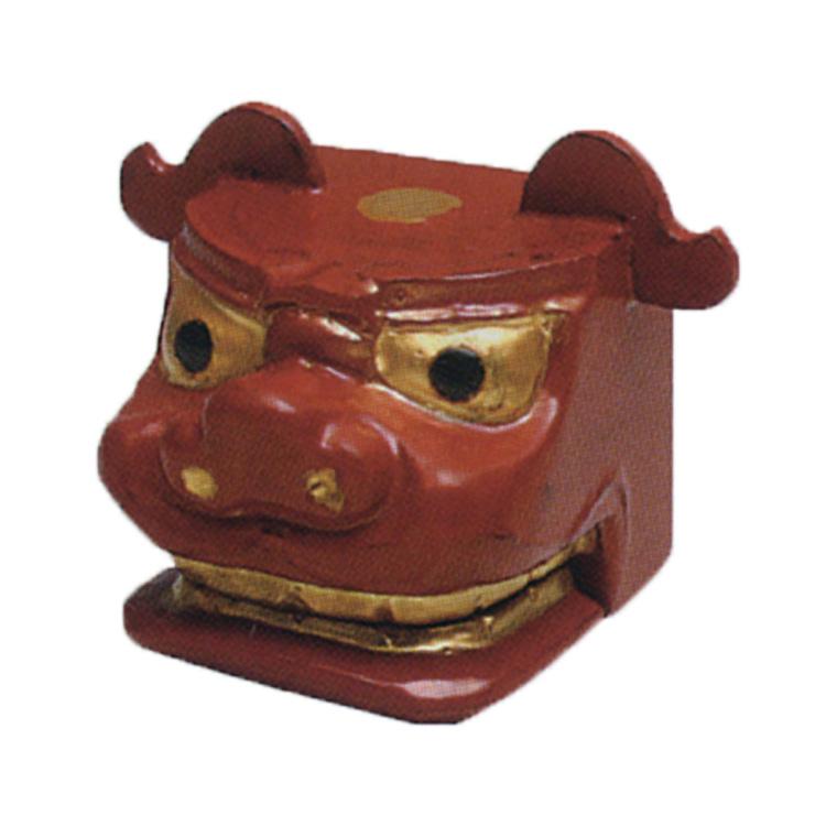 茶道具 乾漆 獅子頭 赤 香合 中川正斉 (茶道具 通販 )
