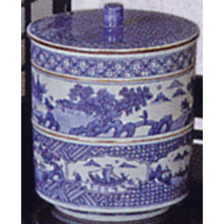 茶道具 祥瑞写 山水 胴紐 竹摘 水指 林秀峰 (茶道具 通販 )