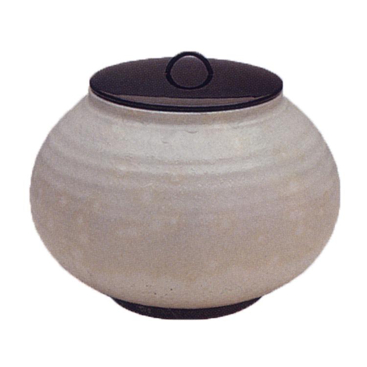 茶道具 粉引 一重口 水指 宇田佐平 (茶道具 通販 )