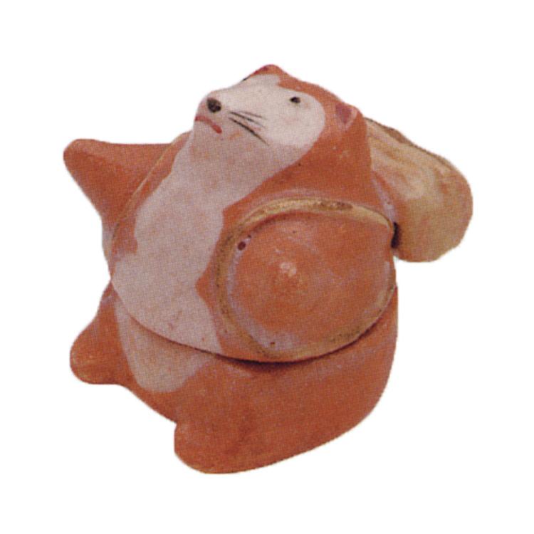 茶道具 狸(カチカチ山) 香合 楽入窯 (茶道具 通販 )