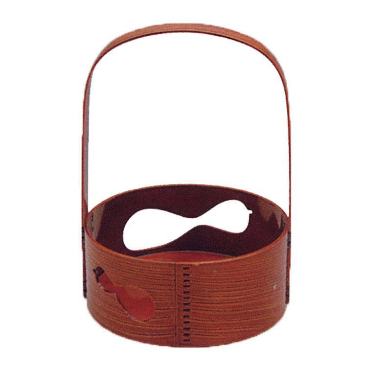 茶道具 春慶塗 瓢透し 丸形 莨盆 (茶道具 通販 )