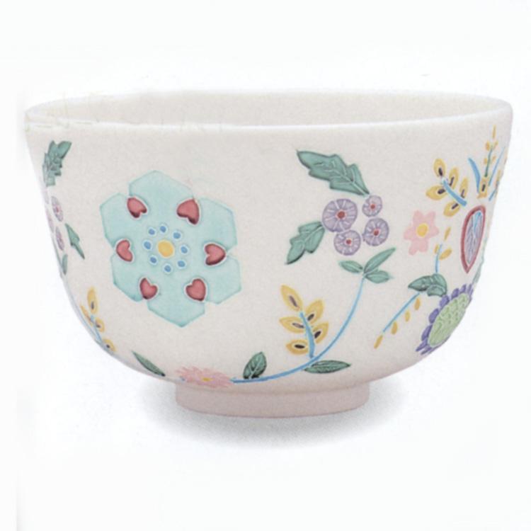 茶道具 抹茶茶碗(まっちゃちゃわん) 交趾 猪目 茶碗 中村 翠嵐