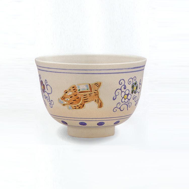 茶道具 抹茶茶碗(まっちゃちゃわん) 安南 梅唐草 土鈴亥 茶碗 橋本 永豊