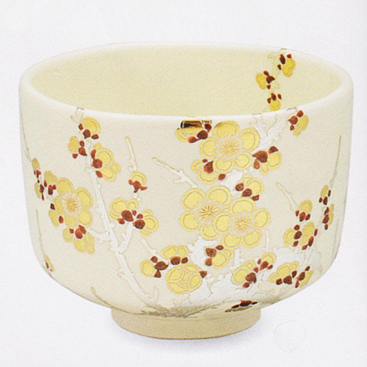 茶道具 抹茶茶碗(まっちゃちゃわん) 色絵 金銀梅 茶碗 田中 方円作