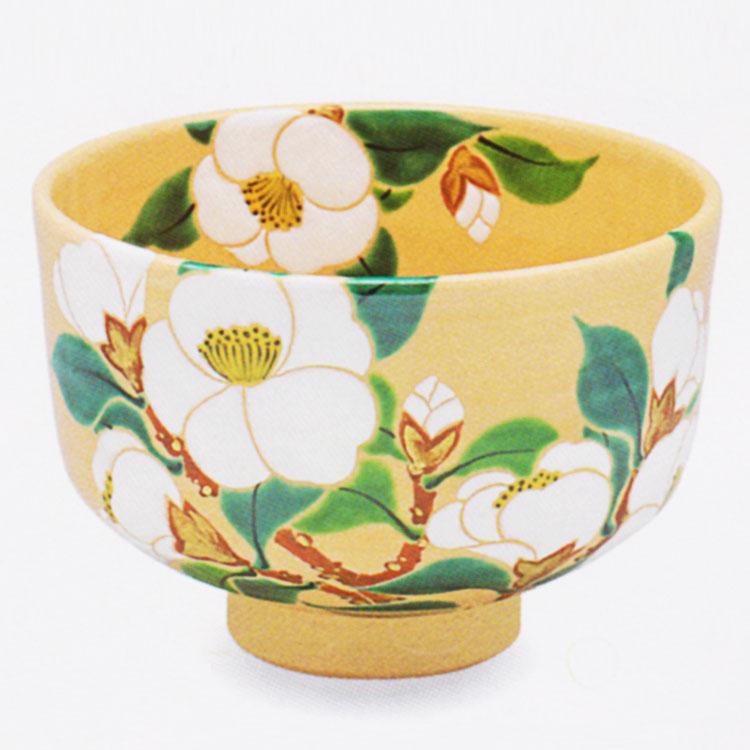 茶道具 抹茶茶碗(まっちゃちゃわん) 色絵 侘助椿 茶碗 田中 方円作