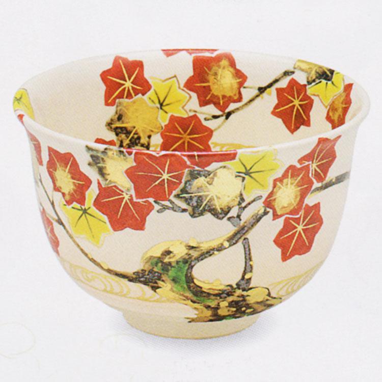 茶道具 抹茶茶碗(まっちゃちゃわん) 色絵 立田川 茶碗 田中 方円作