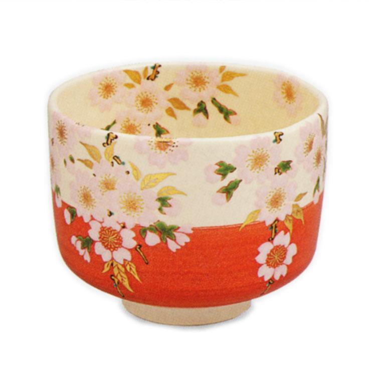 茶道具 抹茶茶碗(まっちゃちゃわん) 色絵 花見 茶碗 田中 方円 作