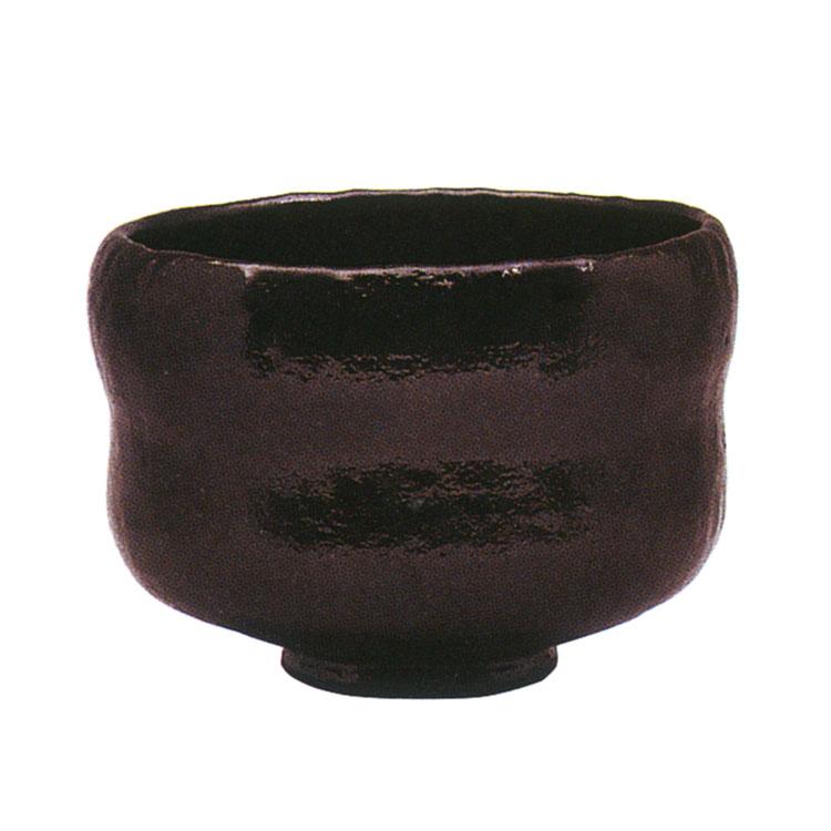 茶道具 抹茶茶碗(まっちゃちゃわん) 利休七種茶碗 長次郎写 鉢開 茶碗 佐々木 昭楽 作