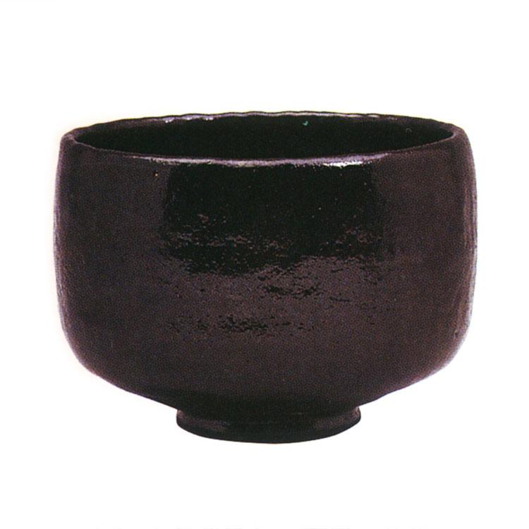 茶道具 抹茶茶碗(まっちゃちゃわん) 利休七種茶碗 長次郎写 大黒 茶碗 佐々木 昭楽 作