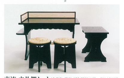 茶道具 点茶盤セット(表流) 円椅金具付 ※円座は別売りになります。 (茶道具 ギフト 通販 )