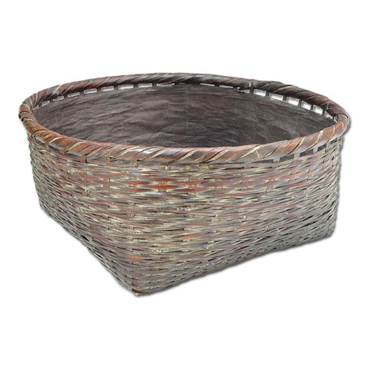 茶道具 炭斗 松葉編み炭斗 炉用 松本頌竹