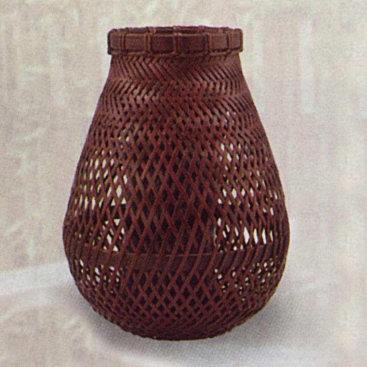 茶道具 花籠(はなかご) 那須籠掛花入 松本 頌竹