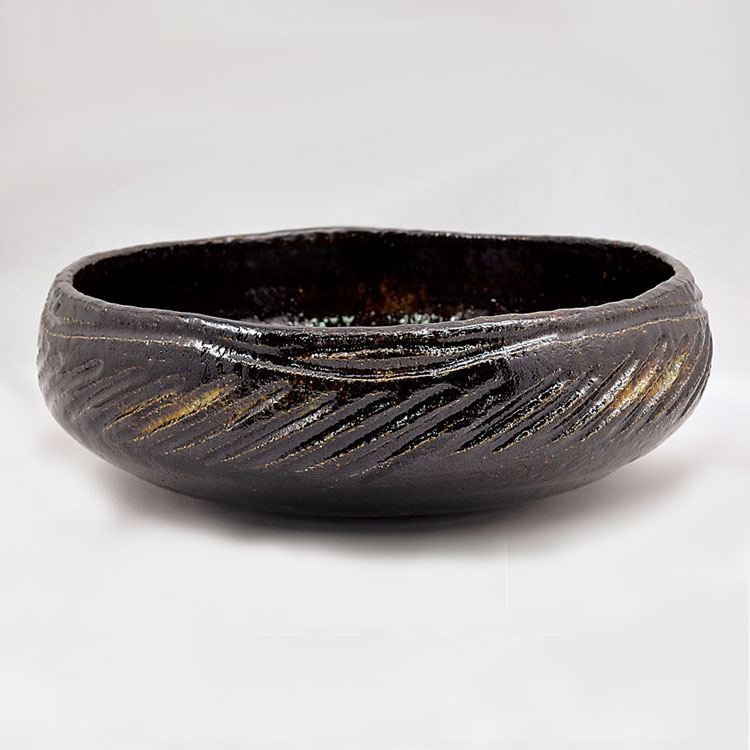 茶道具 灰器(はいき) 焼貫 灰器 佐々木 松楽