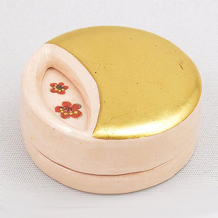 茶道具 香合(こうごう) 絵替り 月の光 香合(純金箔使用) 伊東 桂楽