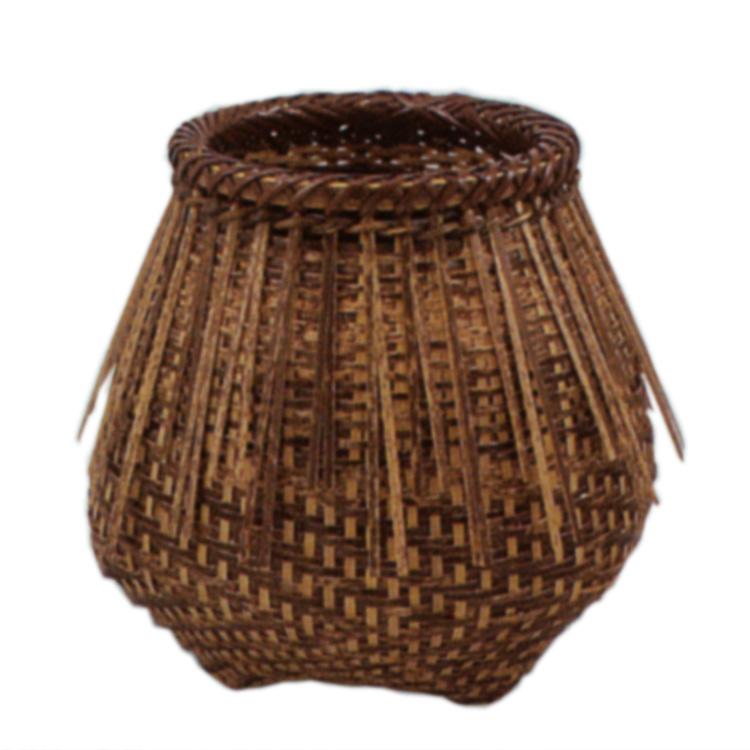 茶道具 花籠(はなかご) 黒竹 桂籠 (利休好写)  松本 頌竹 ギフト 通販 千紀園