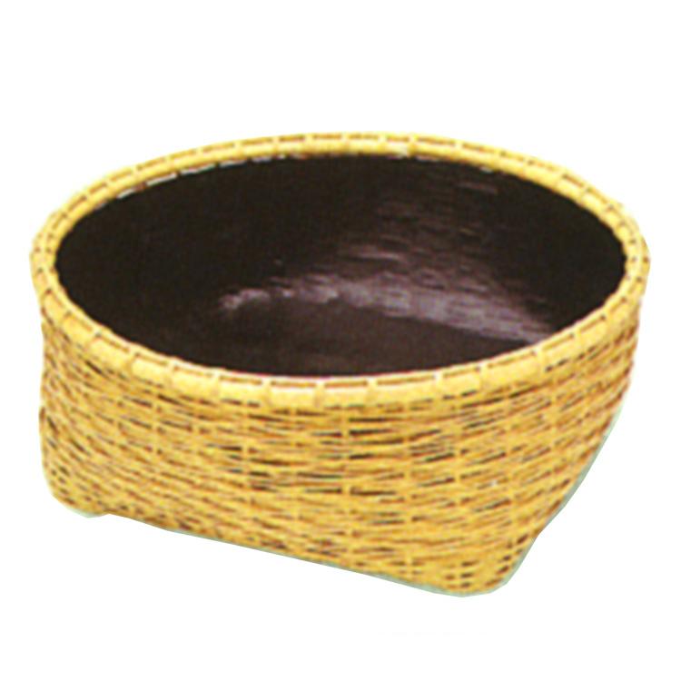 茶道具 炭斗(炭取・すみとり) 松葉編 炭斗(風炉用) 松本 頌竹