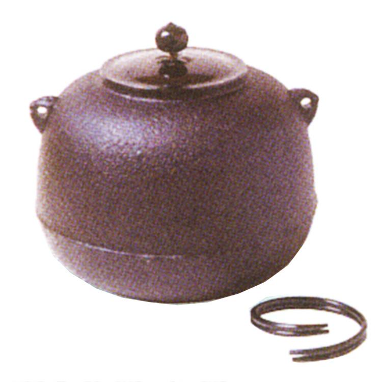 茶道具 風炉釜(ふろがま) 志きの釜 丸釜 (炉・風炉用に)