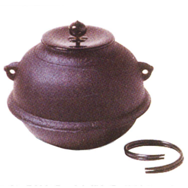 茶道具 風炉釜(ふろがま) 志きの釜 真形釜 (風炉用に)