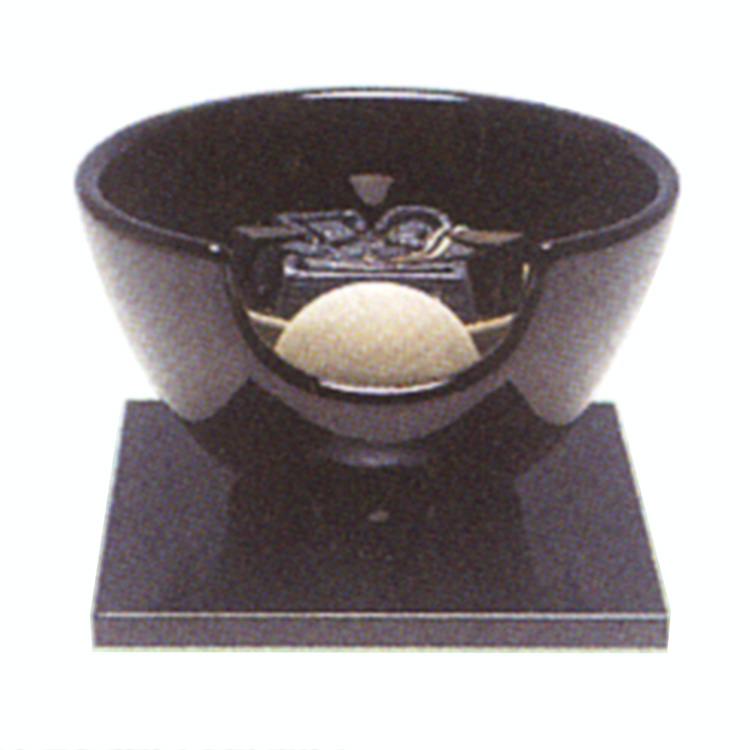 茶道具 風炉(ふろ) 黒・紅鉢型(陶製) 表用・裏用 100V/400W(炭型ヒーター付)
