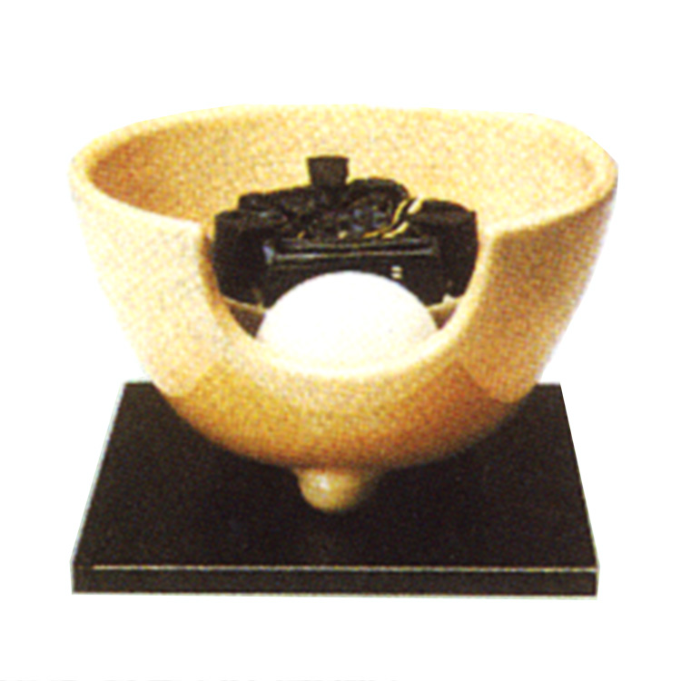 茶道具 風炉(ふろ) 枇杷色さつま(紅鉢型) 表用・裏用 100V/400W(炭型ヒーター付)