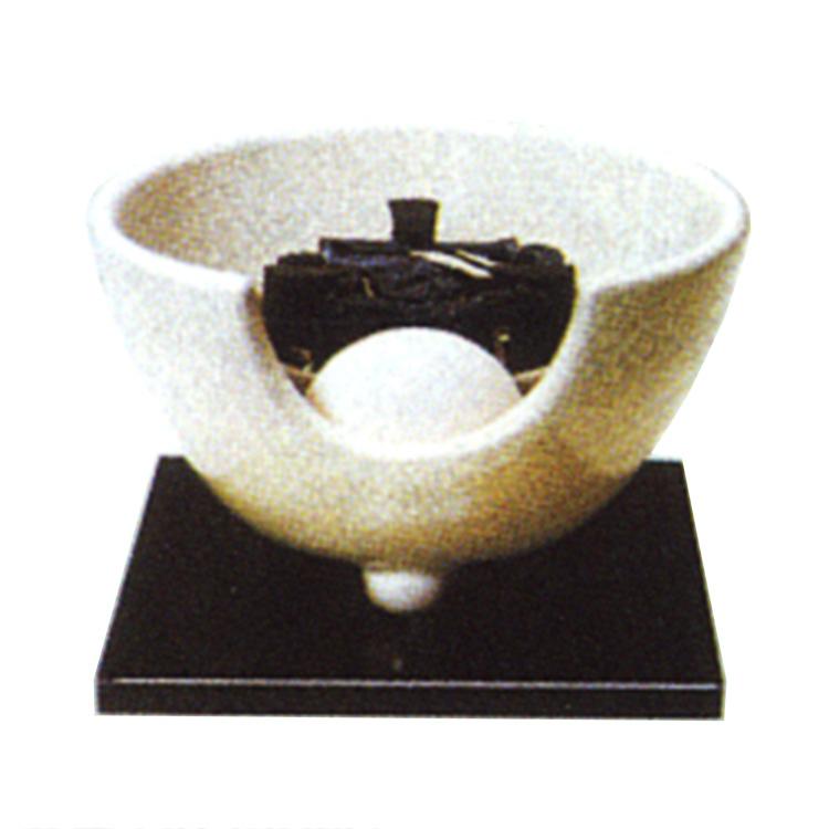 茶道具 風炉(ふろ) 白さつま(紅鉢型) 表用・裏用 100V/400W(炭型ヒーター付)
