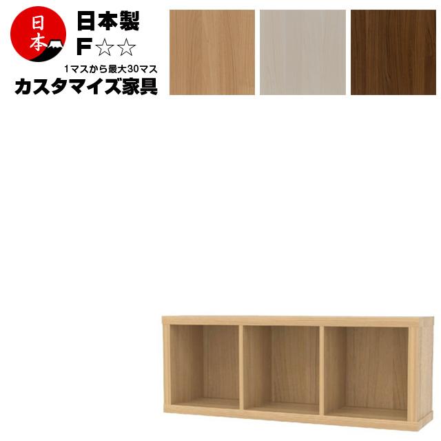注文家具 カスタムオーダー本棚 収納家具 ファイルラック 日本製 高さ41cm(1段3列)