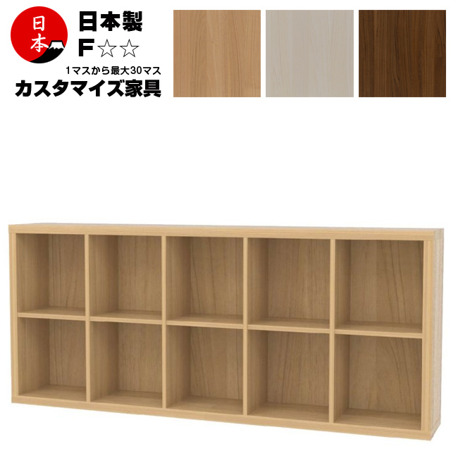 注文家具 カスタムオーダー本棚 収納家具 コミックシェルフ 日本製 高さ77cm(2段5列)
