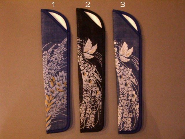 Cotton linen fabric fan bag   dark blue autumn flowers and Butterfly  pattern women s (size 7) 17fad497f