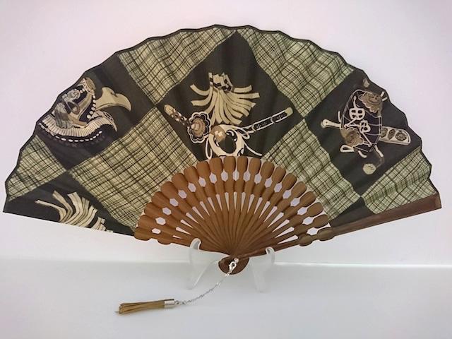 宗一ブランド/玉骨・古布(更紗)扇/打ち出の小槌、刀柄扇子/男性用女性用兼用
