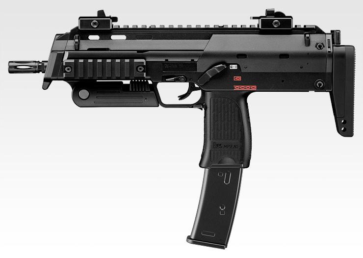 【エアガン】MP7A1 ブラック 【ガスブローバック マシンガン(18才用モデル)】 東京マルイ No.01