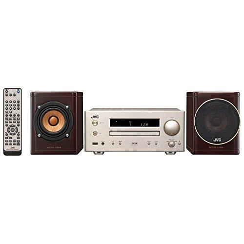 【オーディオ】JVC iPod/iPhone対応 USB端子搭載コンパクトコンポーネントシステム WOOD CONE EX-HR5【973657】