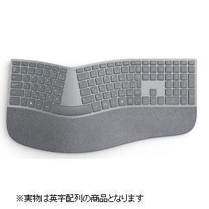 【キーボード】 マイクロソフト Surface Ergonomic Keyboard 3RA-00021 [シルバー]・英語版 ・Alcantara 製生地採用 ・Bluetooth搭載 【975859】