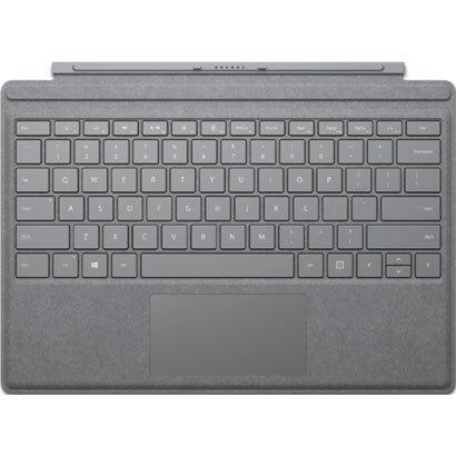 【タブレットケース】 マイクロソフト Surface Pro Signature タイプ カバー FFP-00019 [プラチナ]・ガラス製トラックパッド ・LEDバックライト ・高耐久性 【976162】