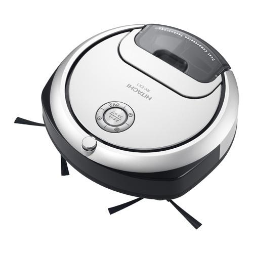 【掃除機】 日立 minimaru RV-EX1(W) [パールホワイト]・薄型コンパクトサイズ ・ロボットクリーナー ・「そこだけスポット」ボタン 【976722】
