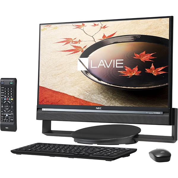 【デスクトップパソコン】 NEC LAVIE Desk All-in-one DA770/CAB PC-DA770CAB [ファインブラック]・23.8型ワイド/HDD 3TB/8GB ・ブルーレイドライブ ・Windows 10 Home 64ビット 【974765】