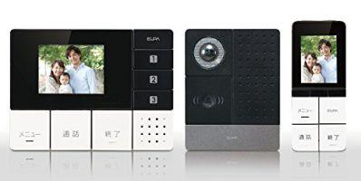 【テレビドアホン・インターホン】 ELPA DHS-TMP2320・DECT方式 ・ワイヤレス ・自動録画 【974220】