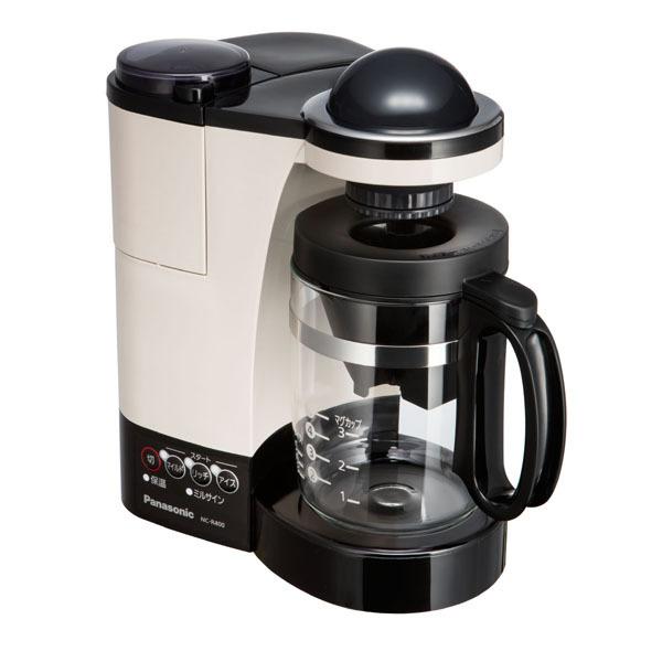 【コーヒーメーカー】 パナソニック NC-R400-C [カフェオレ]・パナソニック ・コーヒーメーカー ・ミル付き 【977656】T