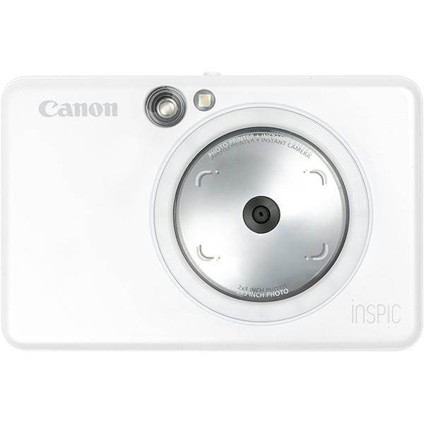【フォトプリンタ】 CANON iNSPiC ZV-123-PW [パールホワイト]・CANON ・インスタントカメラ ・プリンター 【978939】T