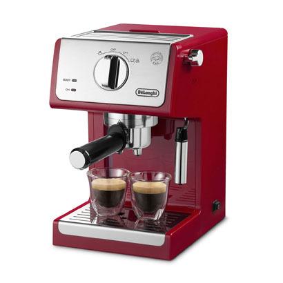 【コーヒーメーカー】 デロンギ アクティブ ECP3220J-R [パッションレッド]・デロンギ ・エスプレッソ ・カプチーノメーカー 【978524】T