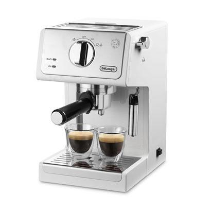 【コーヒーメーカー】 デロンギ アクティブ ECP3220J-W [トゥルーホワイト]・デロンギ ・エスプレッソ ・カプチーノメーカー 【978525】T